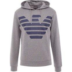 Emporio Armani Bluza z kapturem grey melange. Szare bluzy męskie rozpinane marki Emporio Armani, l, z bawełny, z kapturem. Za 629,00 zł.