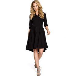Sukienki: Sukienka z marszczonym rozkloszowanym dołem – czarna
