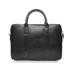 Skórzana czarna męska torba na laptopa Solier William. Czarne torby na laptopa marki Solier, ze skóry. Za 419,00 zł.