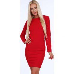 Sukienka ze złotym suwakiem czerwona 1833. Czerwone sukienki marki Fasardi, l. Za 84,00 zł.