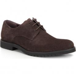 Buty męskie 87-M-818-4. Brązowe buty wizytowe męskie Wittchen, z materiału, na sznurówki. Za 259,00 zł.