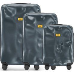 Walizki Icon w zestawie 3 el. matowy szary. Szare walizki marki Crash Baggage, z materiału. Za 2628,00 zł.