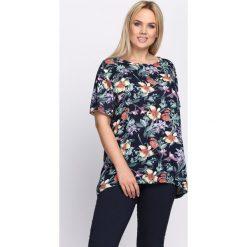 T-shirty damskie: Granatowy T-shirt Beautiful World