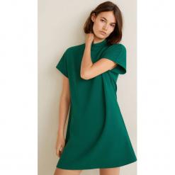 Mango - Sukienka Dottie. Szare sukienki dzianinowe Mango, na co dzień, l, casualowe, z krótkim rękawem, mini, proste. Za 119,90 zł.
