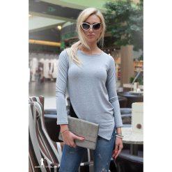 Bluzki, topy, tuniki: Asymetryczna tunika jasnoszara