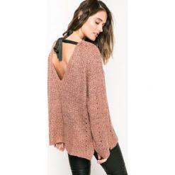 Medicine - Sweter Back to Nature. Różowe swetry klasyczne damskie marki MEDICINE, l, z bawełny, z okrągłym kołnierzem. W wyprzedaży za 59,90 zł.
