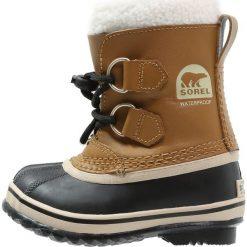 Sorel YOOT PAC Śniegowce mesquite. Brązowe buty zimowe chłopięce Sorel, z materiału. Za 379,00 zł.