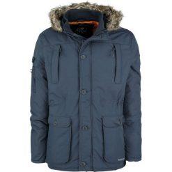 Crosshatch Killblake Kurtka zimowa ciemnoniebieski. Szare kurtki męskie zimowe marki Crosshatch, z nadrukiem. Za 199,90 zł.