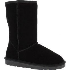 """Buty zimowe damskie: Skórzane kozaki """"Pikes"""" w kolorze czarnym"""