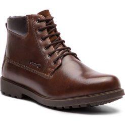 Kozaki GEOX - U Rhadalf F U845HF 00045 C0013 Brown. Brązowe botki męskie Geox, ze skóry ekologicznej. Za 429,00 zł.