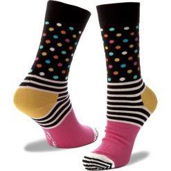 Skarpety Wysokie Damskie HAPPY SOCKS - SDO01-9000 Czarny Kolorowy. Czarne skarpetki damskie Happy Socks, w kolorowe wzory, z bawełny. Za 34,90 zł.