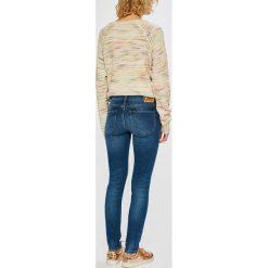 Lee - Jeansy Scarlett. Niebieskie jeansy damskie rurki marki Lee, z bawełny. Za 329,90 zł.