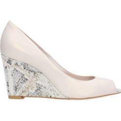 Czółenka OLIVIA. Brązowe buty ślubne damskie Gino Rossi, ze skóry, na wysokim obcasie. Za 199,90 zł.
