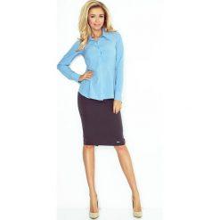 Koszula z baskinką - BŁĘKITNA. Niebieskie koszule damskie marki morimia, s, biznesowe. Za 109,99 zł.