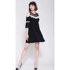 Sukienki hiszpanki: Czarna Sukienka Girly Dreams
