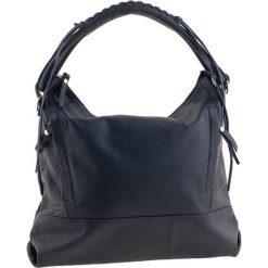 Torebki klasyczne damskie: Skórzana torebka w kolorze granatowym – 35 x 32 x 10 cm