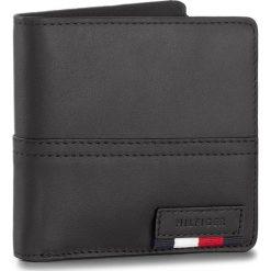 Portfele męskie: Duży Portfel Męski TOMMY HILFIGER – Branded Leather Cc & Back Coin Zip AM0AM02931 002