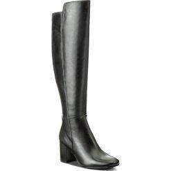 Kozaki EVA MINGE - Edelmira 2K 17SF1372283EF 101. Czarne buty zimowe damskie Eva Minge, ze skóry, przed kolano, na wysokim obcasie, na obcasie. Za 649,00 zł.