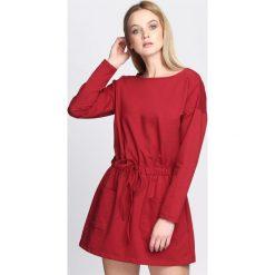 Sukienki: Bordowa Sukienka Gotta Tell