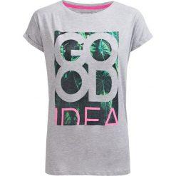 T-shirt damski TSD613 - ciepły jasny szary - Outhorn. Szare t-shirty damskie marki Outhorn, melanż, z bawełny. Za 44,99 zł.