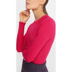 Prążkowany sweter. Brązowe swetry klasyczne damskie marki Orsay, s, z dzianiny. Za 69,99 zł.