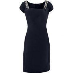 Sukienki balowe: Sukienka ołówkowa z perełkami bonprix czarny