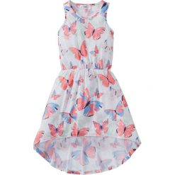 Sukienki dziewczęce letnie: Sukienka bonprix biały z nadrukiem