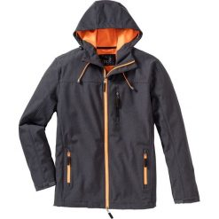 Kurtka softshell Regular Fit bonprix antracytowy melanż. Szare kurtki softshell męskie marki bonprix, m, melanż, z softshellu. Za 189,99 zł.