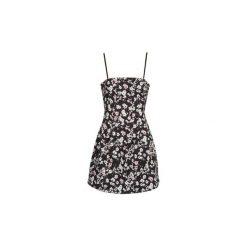 Sukienki krótkie Naf Naf  EFLORY DR. Czarne sukienki hiszpanki NAF NAF, z krótkim rękawem, mini. Za 300,30 zł.