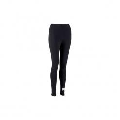 Legginsy Gym & Pilates Essential 100 damskie. Czarne legginsy sportowe damskie Puma, l, z bawełny. Za 84,99 zł.