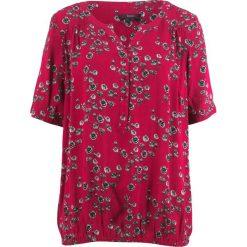 Tunika, krótki rękaw bonprix czerwień granatu w kwiaty. Czerwone tuniki damskie w kwiaty bonprix, z krótkim rękawem. Za 59,99 zł.