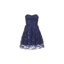 Sukienki krótkie Naf Naf  LIBERIA. Niebieskie sukienki mini marki NAF NAF, z krótkim rękawem. Za 407,20 zł.