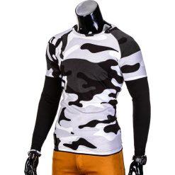 T-shirty męskie: LONGSLEEVE MĘSKI BEZ NADRUKU L65 – BIAŁY
