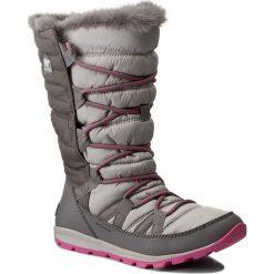 Buty: Śniegowce SOREL – Youth Whitney Lace NY1895 Pink Ice/Quarry 695