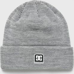 DC - Czapka. Szare czapki zimowe męskie DC, z dzianiny. W wyprzedaży za 99,90 zł.