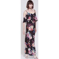 Sukienki hiszpanki: Czarna Sukienka The Kissing Dress