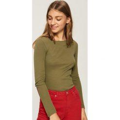 Bluzki damskie: Bluzka z zamkami - Zielony