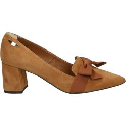Czółenka - 2640 CAM CA32. Brązowe buty ślubne damskie Venezia, ze skóry. Za 299,00 zł.