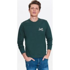 BLUZA MĘSKA NIEROZPINANA Z NADRUKIEM. Szare bluzy męskie rozpinane marki Top Secret, na lato, m, z nadrukiem, z bawełny. Za 39,99 zł.