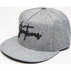 Akcesoria męskie: Czapka full cap z napisami - Szary