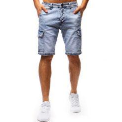 Spodenki i szorty męskie: Spodenki męskie jeansowe niebieskie (sx0674)
