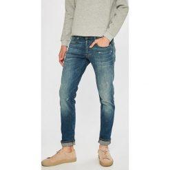 G-Star Raw - Jeansy 3301. Niebieskie jeansy męskie slim marki G-Star RAW. W wyprzedaży za 449,90 zł.
