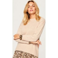 Sweter z kaszmiru - Beżowy. Brązowe swetry klasyczne damskie marki Ivyrevel, z bawełny. Za 349,99 zł.