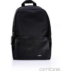 PLECAK MĘSKI A026 - CZARNY. Czarne plecaki męskie Ombre Clothing, z tkaniny. Za 129,00 zł.