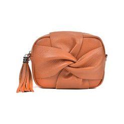 Torebka w kolorze koniaku - (S)21 x (W)16 x (G)7 cm. Brązowe torebki klasyczne damskie Bestsellers bags, w paski, z materiału. W wyprzedaży za 199,95 zł.