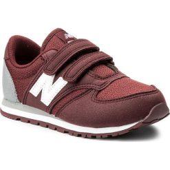 Sneakersy NEW BALANCE - KE420BUY Bordowy. Czerwone trampki chłopięce marki New Balance, z materiału, na rzepy. W wyprzedaży za 179,00 zł.