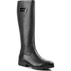 Buty zimowe damskie: Oficerki MACCIONI - 324 Czarny
