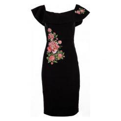 Desigual Sukienka Damska Marina 36 Czarny. Czarne sukienki balowe Desigual, na co dzień, z haftami, z materiału. W wyprzedaży za 389,00 zł.