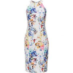 Sukienki: Sukienka w kwiaty bonprix biało-niebiesko-jasnoróżowy