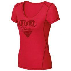 Odlo Koszulka damska Shirt s/s crew neck Cubic Trend czerwona r. L. Czerwone topy sportowe damskie Odlo, l. Za 123,14 zł.